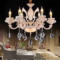 工厂直销宜生光景YS8557六头欧式吊灯8头欧式水晶吊灯欧美客厅卧室书房餐厅灯水晶锌合金灯具