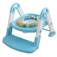 水上莲花儿童坐便器 **批发 婴儿儿童阶梯式座便器 坐便圈 多功能宝宝马桶