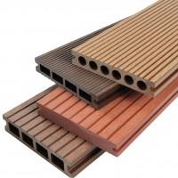 【认证企业】 木塑地板批发  浙江企业户外地板  空心地板
